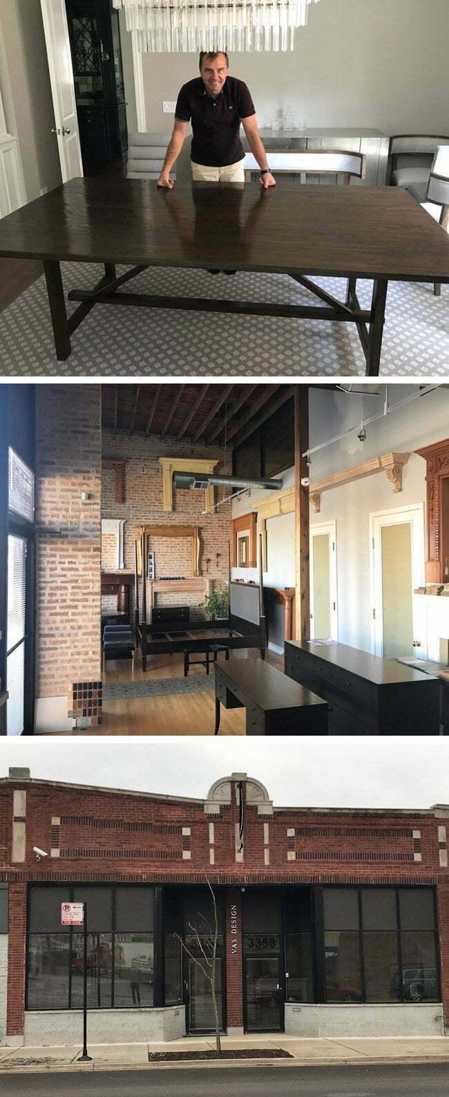 vas design, bespoke tailor made furniture shop in chicago