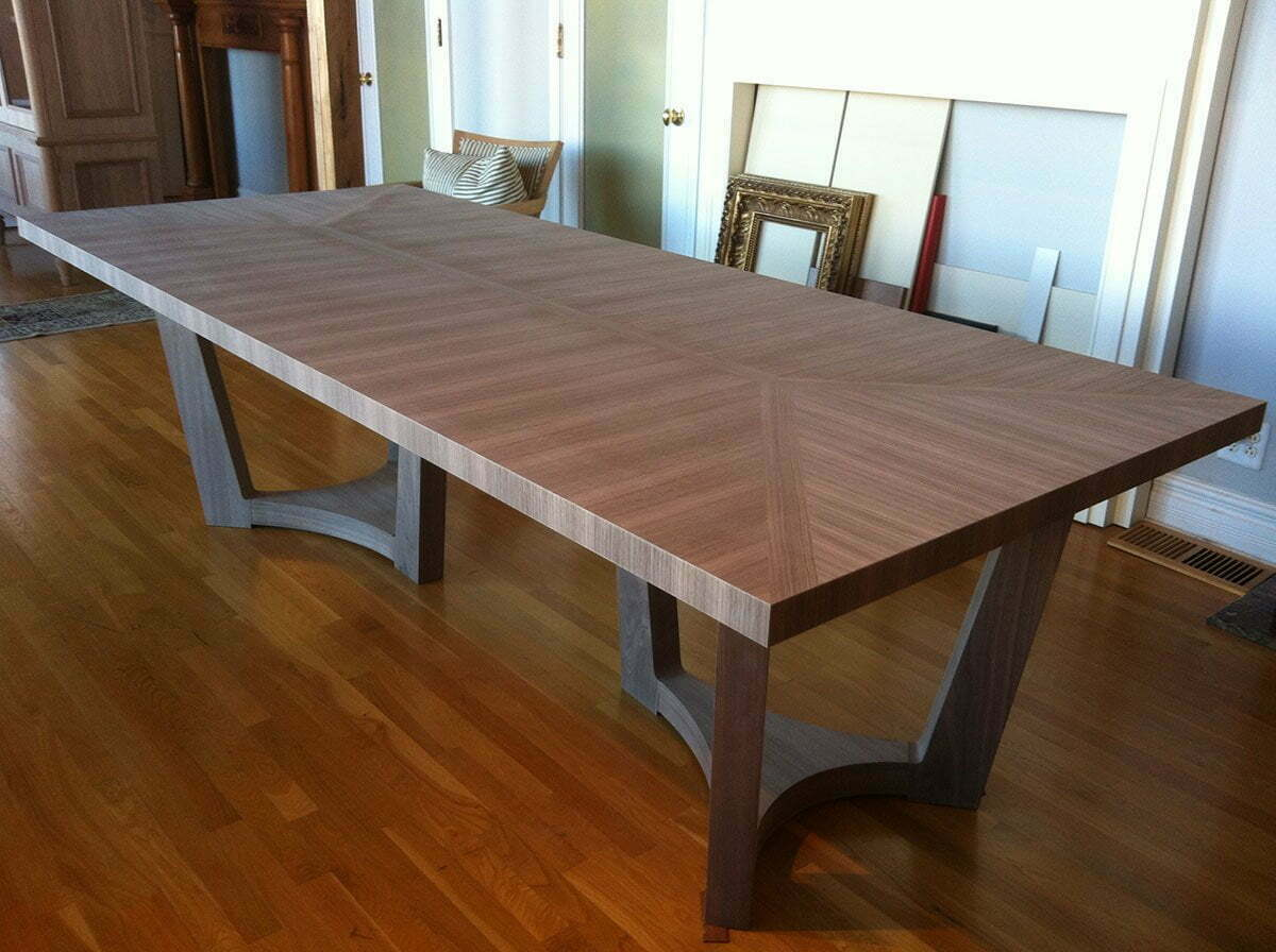 image of custom built dining table